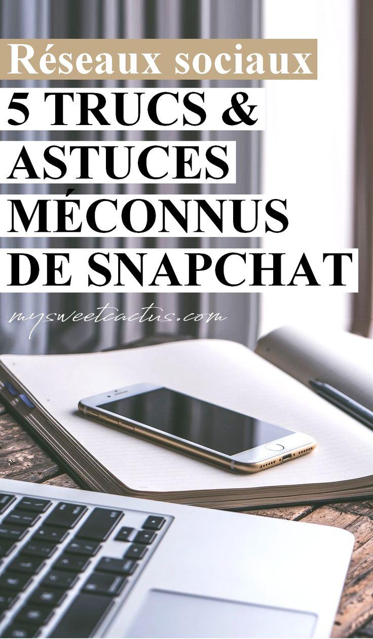 """Réseaux sociaux : améliorer vos stories et photos sur Snapchat grâce à l'article """"5 trus & astuces méconnus de Snapchat"""" pour ajouter de l'originalité et marquer vos followers. #socialnetworks #snapchat #geek #blog #blogueuse #astuces"""