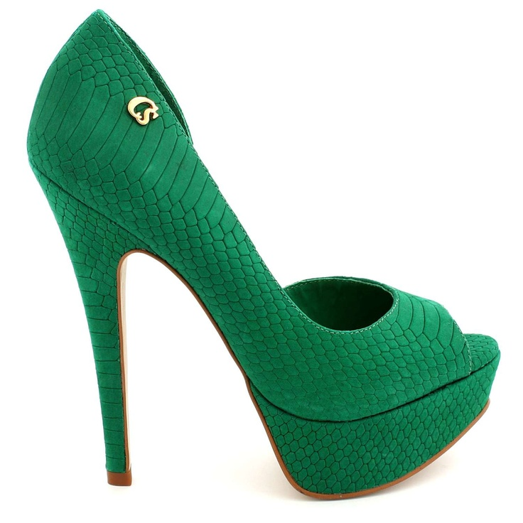 I'm obsessed with this shoe designer! Peep Toe Green Carmen Steffens