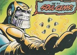 Thanos con las gemas del infinito