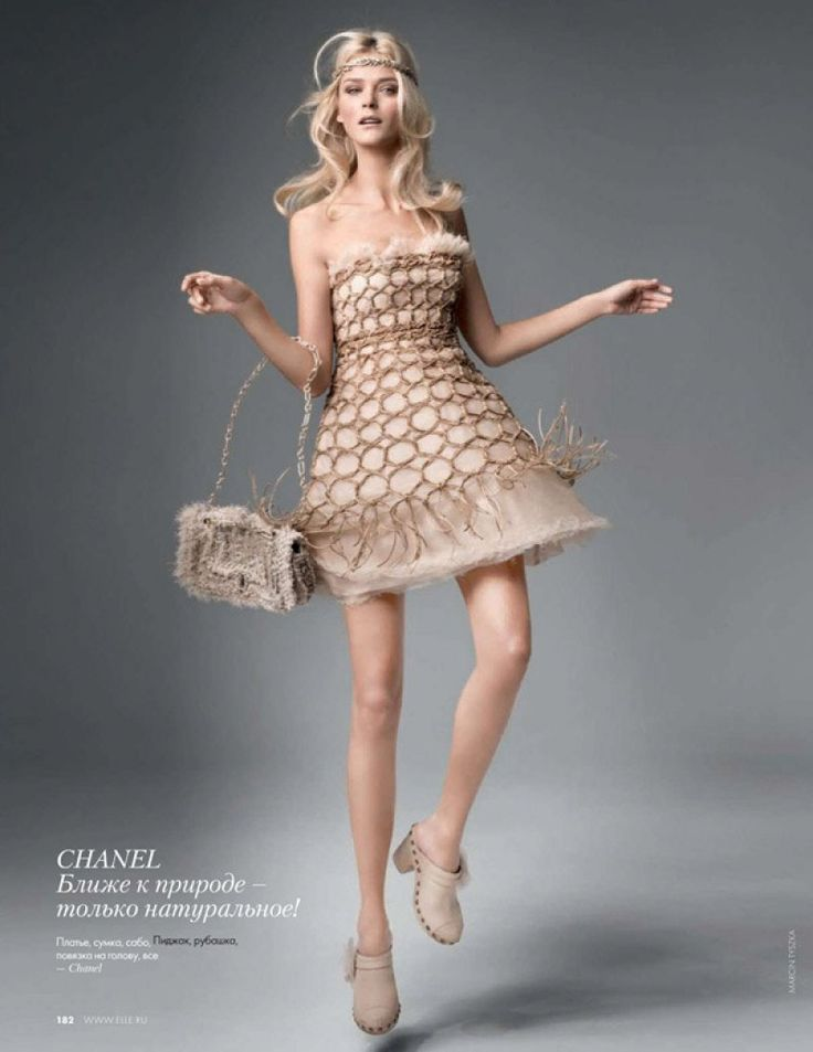 Chanel Couture : Carmen Kass by Marcin Tyszka for Elle Russia February 2010