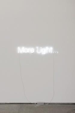 'More Light', neon installation   lighting . Beleuchtung . luminaires  