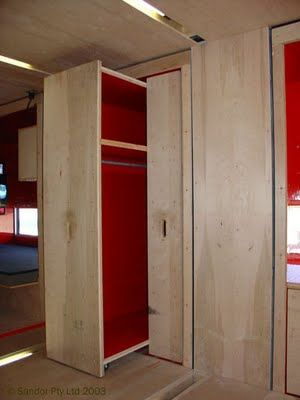 Shipping Container Homes. Hidden storage.