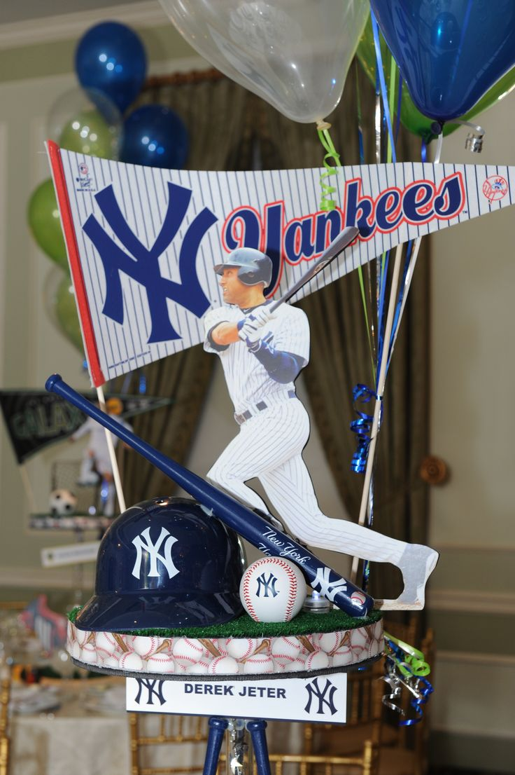 Yankees Centerpiece Centerpieces Pinterest Centerpieces