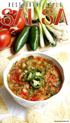 Restaurant Style Salsa - The Cottage Market
