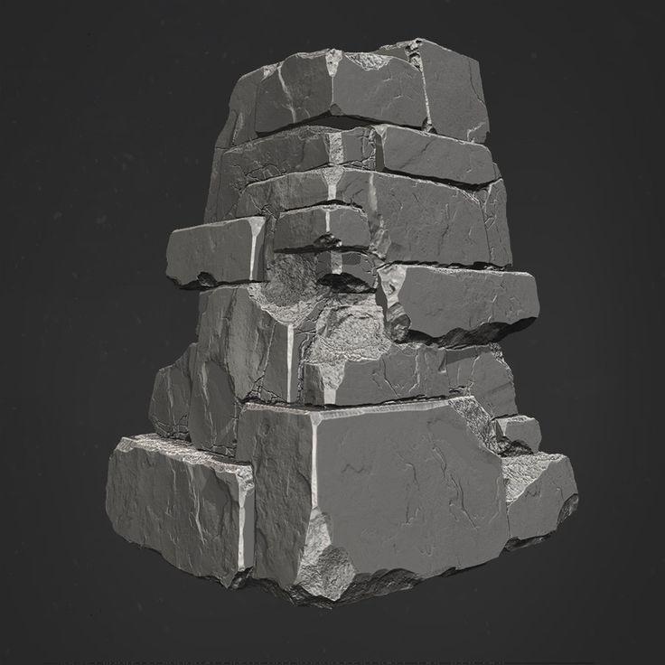 DOOM Hell Rocks, Robert Hodri on ArtStation at https://www.artstation.com/artwork/5YN5W