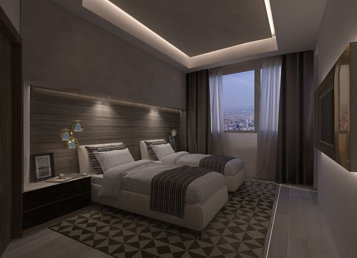 Twin Room, night view