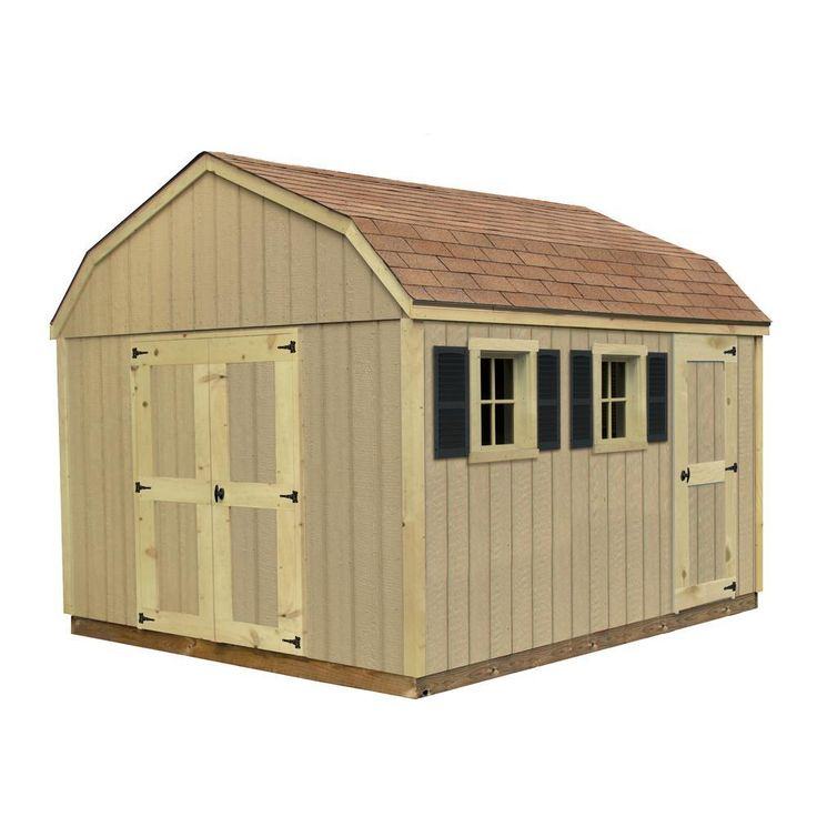 Sheds USA Installed 10 x 16 Smart Siding Horizon-T1016H - The Home Depot