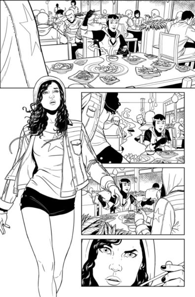 Work in Process: How Jamie McKelvie and Mike Norton Tag-Team a YOUNG AVENGERS Page