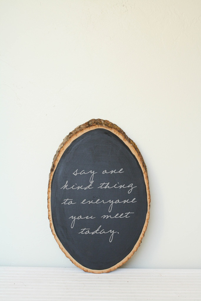Barkboard Rustic Chalkboard- totally a great idea for a buffet spread or a changing art space! (And could be a DIY too)