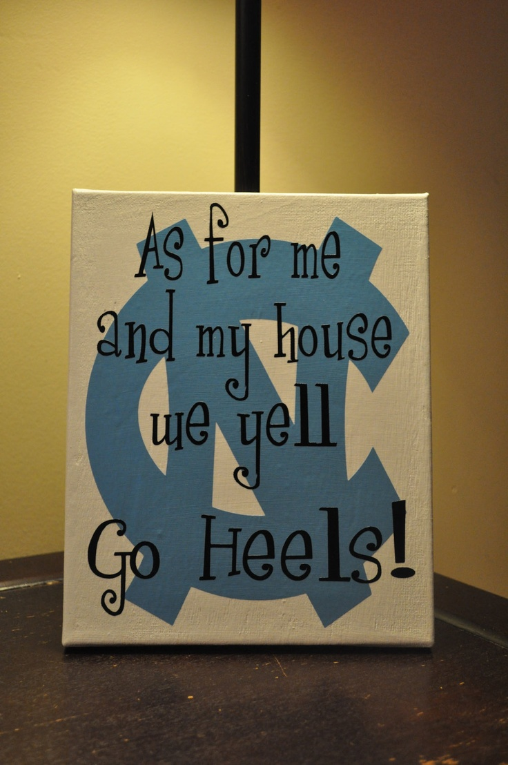 North Carolina Tarheels Canvas by customvinylbydesign on Etsy, $18.00