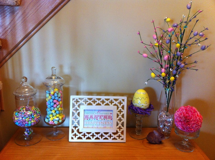 Foyer Table Display : Easter foyer table display for the home pinterest
