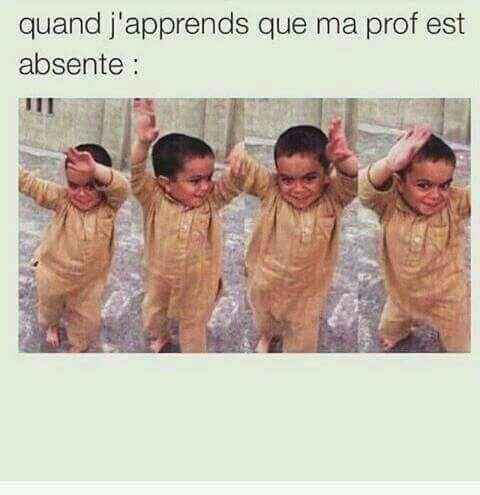 Le prof est pas là !!!   #humour #dansedelajoie #mdr