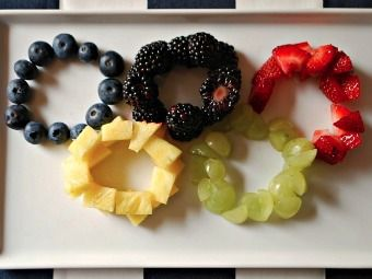 Fruity Salad Rings for an #olympics watching party