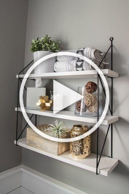 Check Out This Beautiful Powder Room Reveal This Tiny Bathroom Was Transformed From Boring To Fresh And Modern I Love The Shiplap And The Modern Classic Decor In 2020