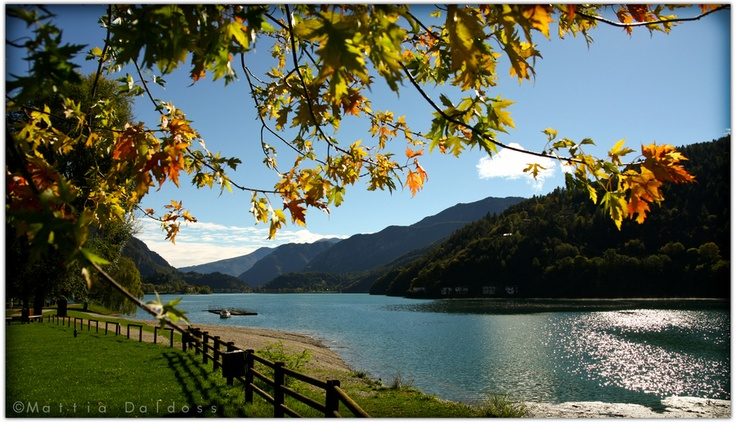 Molina de Ledro, Italy, this is the lake that my father would swim in as a boy....I got to see it with him in 2004 and 2008.