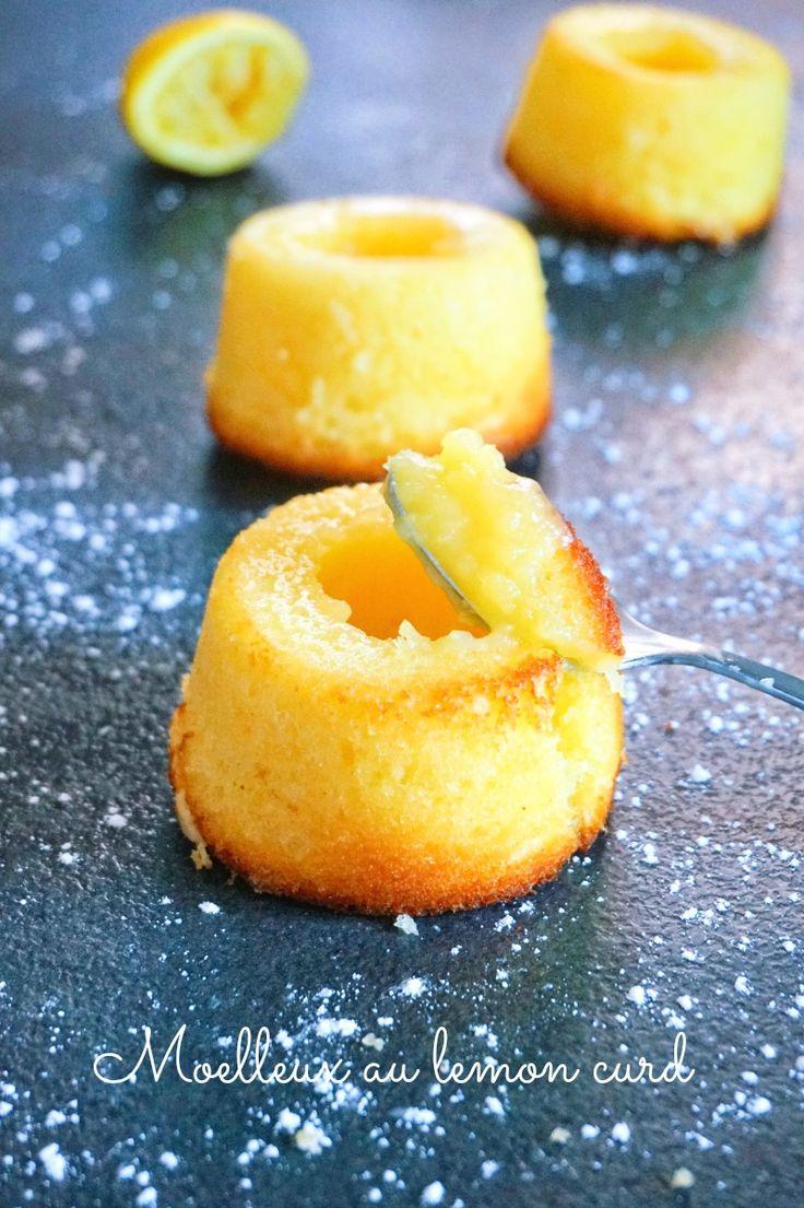 Que faire avec du lemon curd, à part le manger à la petite cuillère ou dans des tartes au citron? En faire de délicieux moelleux au lemon curd!