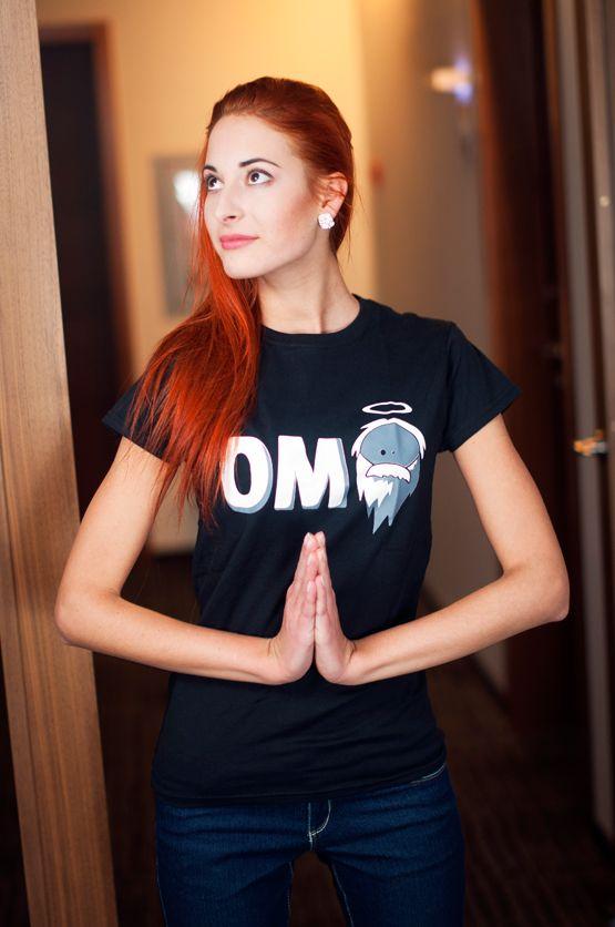 """T-shirt You Shall Not Pass De vrouwelijke versie van de klassieker is een nauwsluitend model met verkorte mouwtjes en heeft een RAXart opdruk met de tekst: """"OMG"""". Blikdicht met aangenaam hoge stofdichtheid en een eersteklas verwerking."""