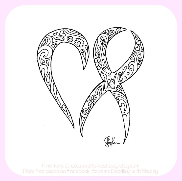 pink ribbon coloring pages - best 10 cancer ribbon colors ideas on pinterest ribbon