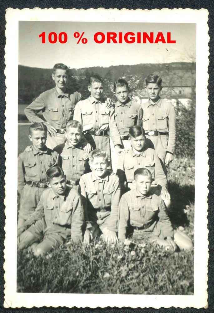 orig. WK2 FOTO - HJ PIMPFE - Jugend in Uniform - Kameradschaft