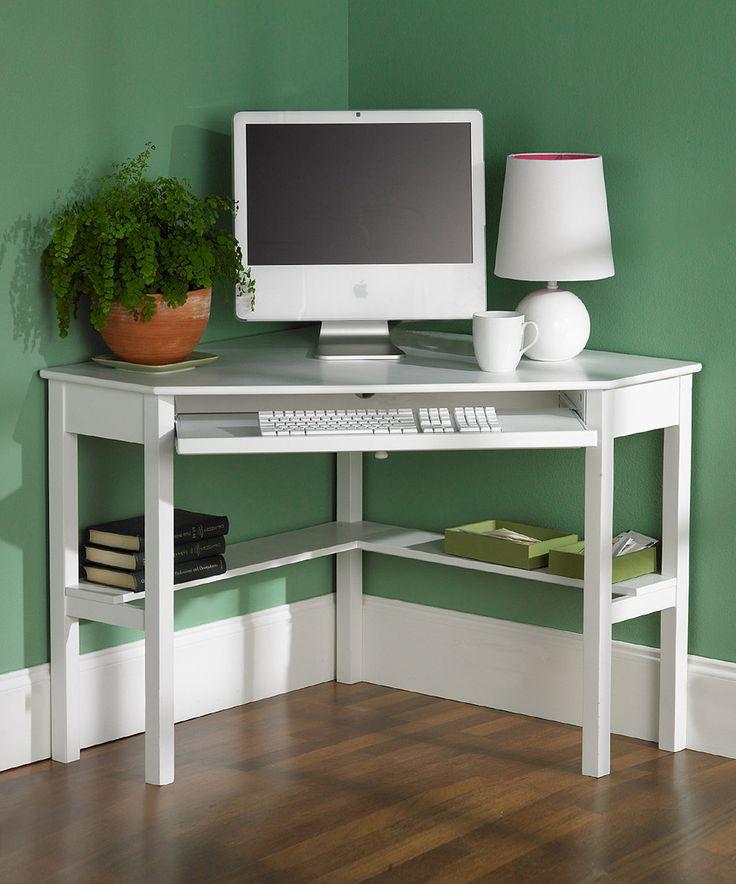 White Corner Computer Desk by Southern Enterprises #zulily #zulilyfinds