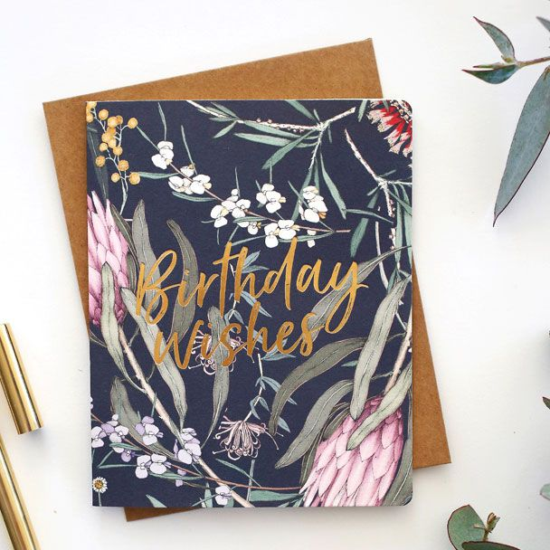 Floral Foil Greeting Cards From Bespoke Press Edith Rewa Greetingcards Letterpress Birthday Card Letterpress Greeting Cards Letterpress Cards
