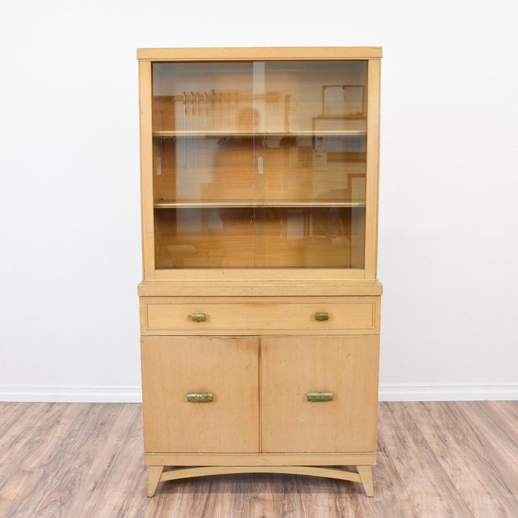 This Mid Century Modern China Hutch Is Featured In A Solid