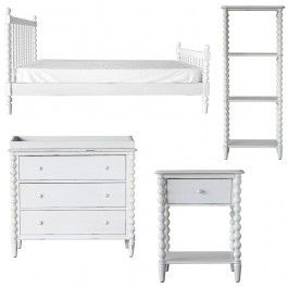 We know when it comes to designing and styling a bedroom for your little treasure that many of our customers love to purchase a furniture package that is readily available with each of the pieces complimenting one another. That is why we have put together the Spindle Kids Bedroom Furniture Package, including a bed (choose from Single Or King Single), dresser, bedside table and bookcase. You can opt to purchase this package in classic white or alternatively select your choice of colo...