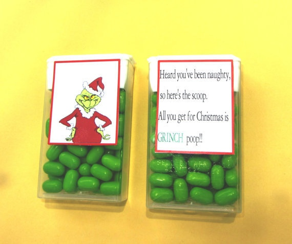 Grinch poop! Haha cute gift idea  ~~going to doing this for my girls advent calendar :))