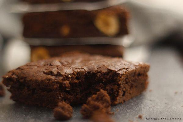 Brownies alle nocciole.