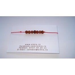 Rudraksha red string bracelet