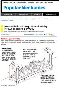 Free Firewood Rack Plans | How to Build a Firewood Rack