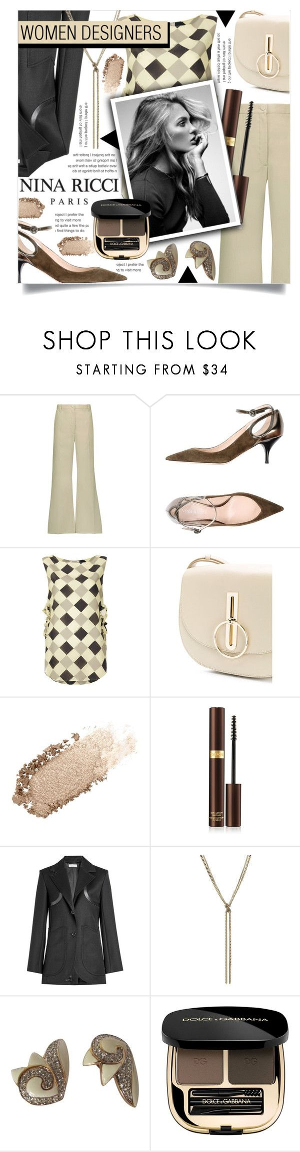 """NINA RICCI"" by celine-diaz-1 ❤ liked on Polyvore featuring Nina Ricci, Chantecaille, Tom Ford, PUR and Dolce&Gabbana"