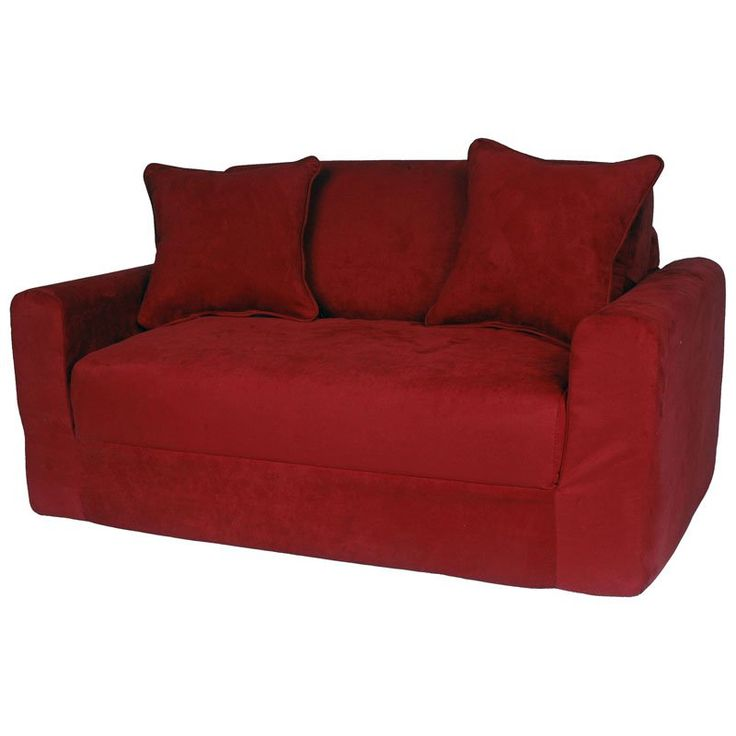 Fun Furnishings Micro Suede Sofa Sleeper Red - 11232