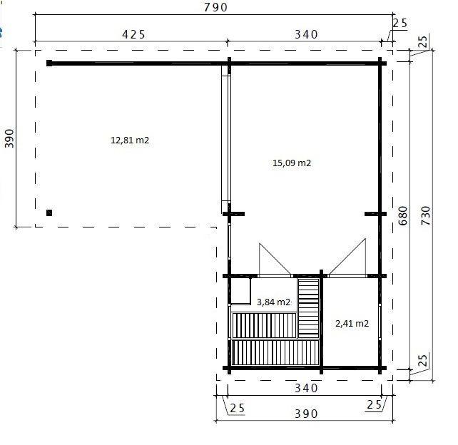 Gartenhaus Mit Sauna A 22m2 70mm 3x7 Hansagarten24 Gartenhaus Mit Sauna Gartenhaus Sommerhaus