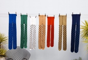 Cool spotty tights and Australian made too!