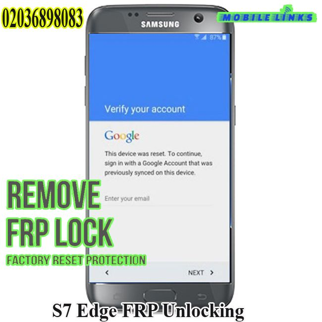 Samsung Galaxy S7 Edge Frp Unlocking Service Samsung Galaxy S7
