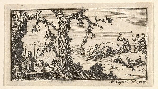 William Hogarth (British 1697–1764). Dismemberment, etc. (Beaver's Roman Military Punishments, 1725, Chapter 8), after 1725. The Metropolitan Museum of Art, New York. Harris Brisbane Dick Fund, 1932 (32.35(89))