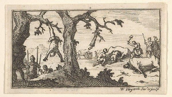 William Hogarth (British 1697–1764). Dismemberment, etc. (Beaver's Roman Military Punishments, 1725, Chapter 8), after 1725. The Metropolitan Museum of Art, New York. Harris Brisbane Dick Fund, 1932 (32.35(89))