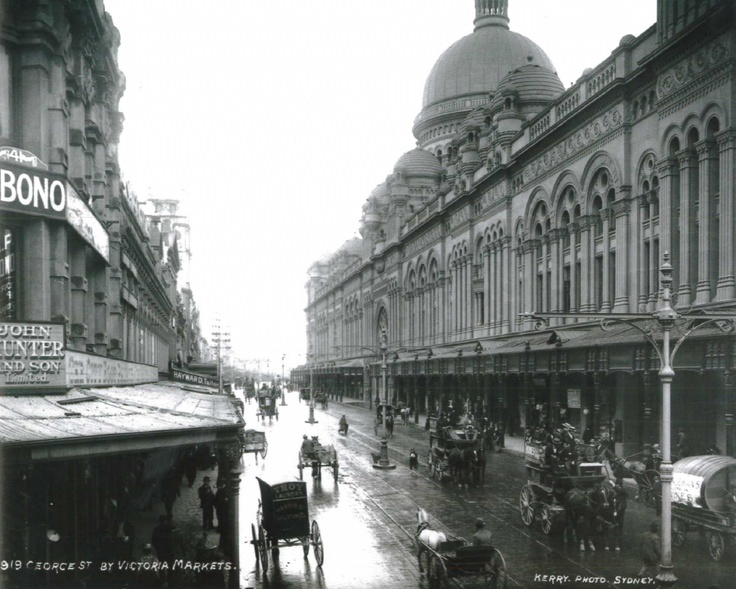 1919: George St view of QVB. #QVB #Sydney