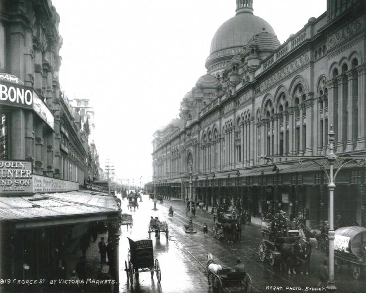 1919: George St view of QVB. #QVB #Sydney