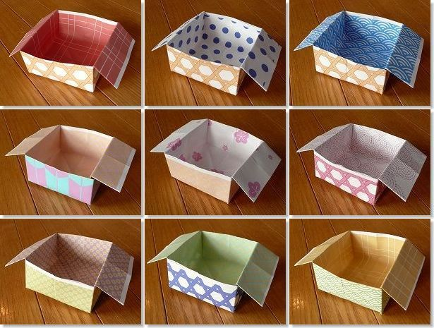 Origami boxes for setsubun