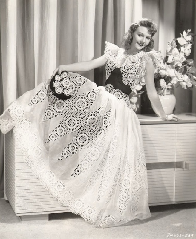 Mary Martin wearing a gown for  Love Thy Neighbor (1942)  Designer: Edith Head