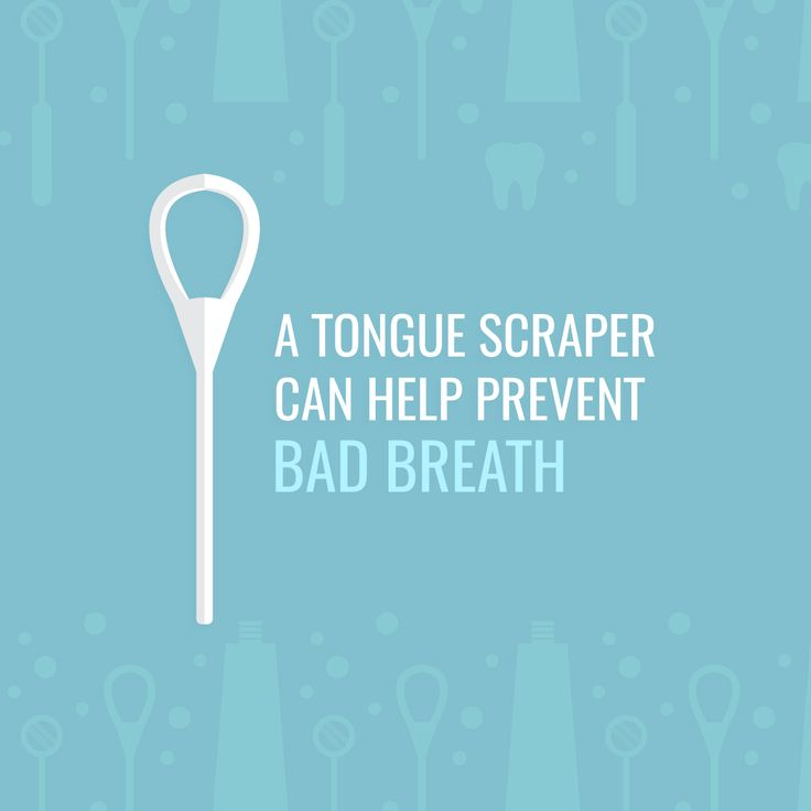 Dental Fact: 90% OF BAD BREATH comes from a dirty tongue! Try using a tongue scraper to keep your tongue clean and prevent bad breath.