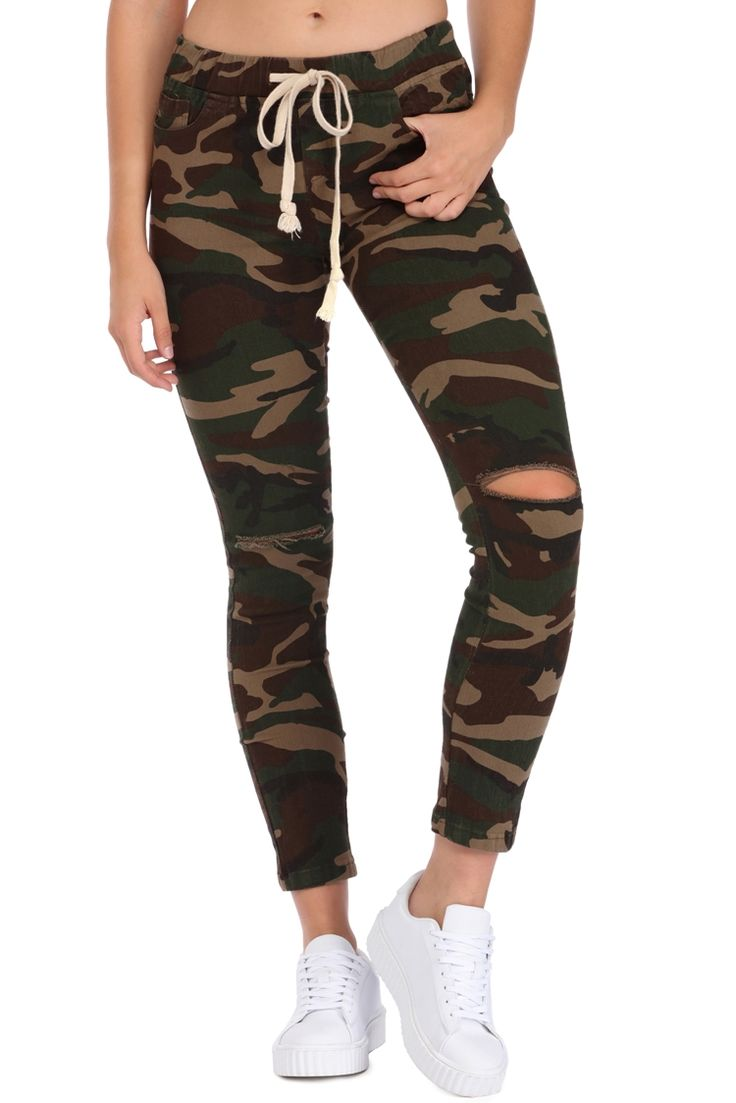 Green Olive Skinny Jogger Pants | WindsorCloud