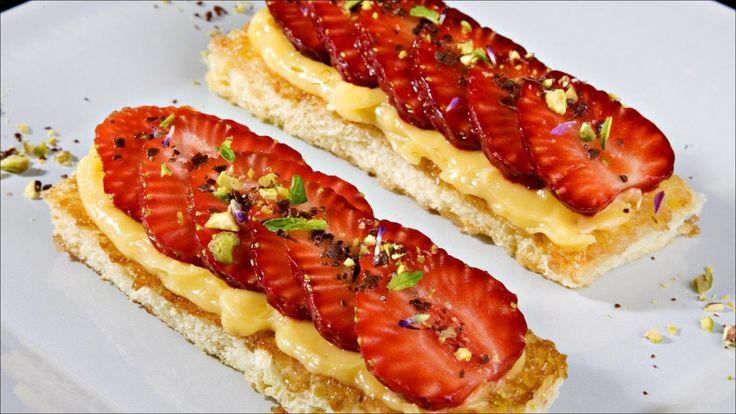 Brioche med jordbær og sitronkrem
