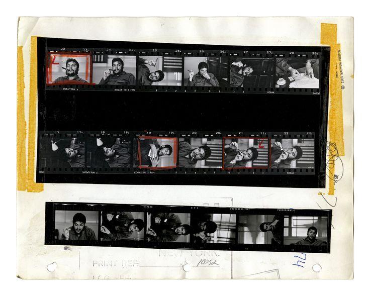 Ernesto 'Che' Guevara, Havana, Cuba, 1963, Contact Sheet © Rene Burri, Magnum Photos