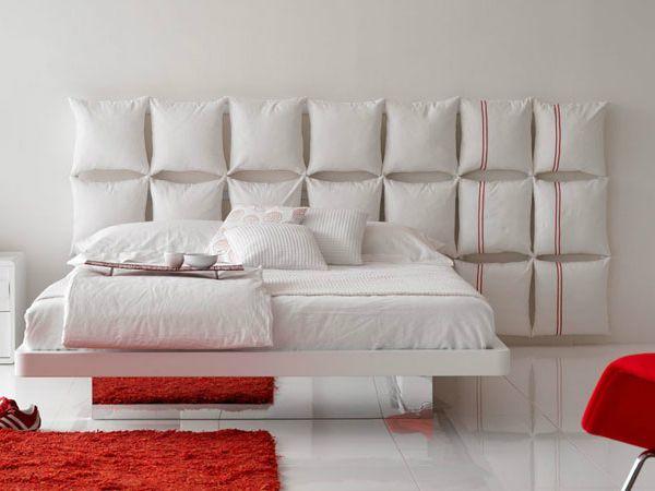 Pillow headboard - 5 creative headboard ideas from Mocha