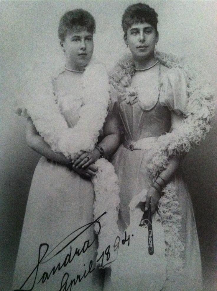 Victoria Melita with her sister Sandra