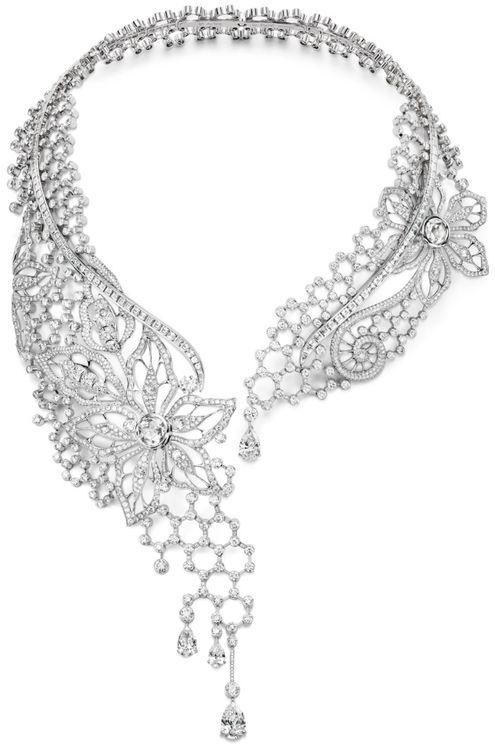 Piaget Biennale diamond necklace.  Via The Jewellery Editor.
