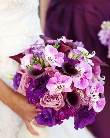 Purple Wedding Bouquets, Purple bridal bouquets
